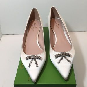 Kate Spade Ivory satin bridal shoes size 9.5 M